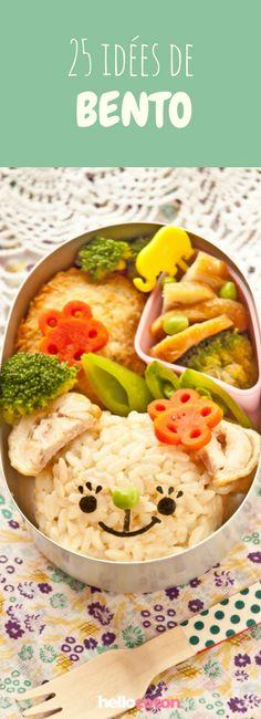 25 idées de bento pour manger plus sain ! #recettes #bento #healthy