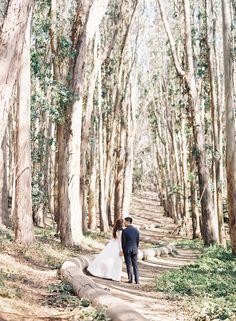 San Francisco engagement photographer Caroline Tran photographs a romantic couple's engagement session.