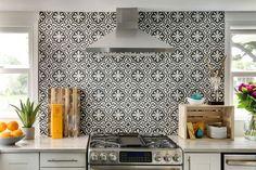 Tile as back splash Cement Tile Shop - Encaustic Cement Tile: Projects