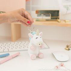 Llavero de peluche Mr.Wonderful #mrwonderfulshop #unicorn #keys #accessories #complements
