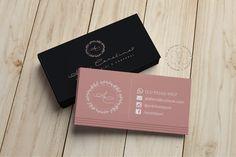 Cartão de Visita para Ana Carolina Estética Business Cards Layout, Business Card Design, Graphic Design Tips, Logo Design Inspiration, Makeup Artist Logo, Beauty Salon Decor, Bussiness Card, Boutique Logo, Creative Logo