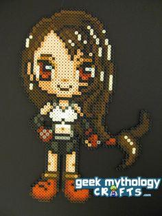 On Sale- Final Fantasy VII Tifa Lockhart Chibishou Perler Bead Sprite. $15.00, via Etsy.