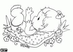 Precious Moments baby coloring page