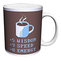 Snorg Tees Coffee Plus to Stats Novelty Lifestyle College Video Game Humor Ceramic Gift Coffee