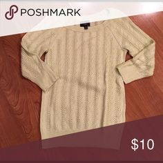 Light Weight Sweater Sweater with 3/4 Sleeve.  Lime Green in color and very soft. American Eagle Outfitters Sweaters Crew & Scoop Necks