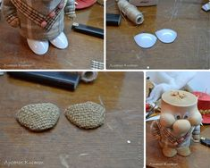 diy-napad-navod-handmade-trpaslik-04 Baby Dolls, Diy And Crafts, Burlap, Pattern, Handmade, Trapillo, Crafts, Felt Fabric, Dolls
