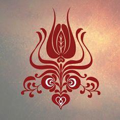 Hungarian Folk Motif Art Print Hungarian Tattoo, Hungarian Embroidery, Folk Embroidery, Embroidery Patterns, Embroidery Dress, Mehndi Art Designs, Scandinavian Folk Art, Art Costume, Stencil Designs