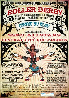 Poster for a our last home bout of the year - and my home debut as an 'SSRG Crucibelle'!!