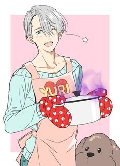 anime boy, yuri on ice, and viktor nikiforov image