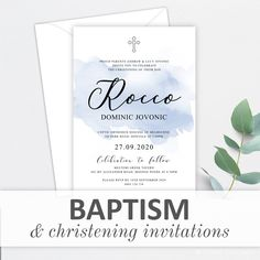 Christening Invitations, Rsvp, Stationery, Place Card Holders, Stationeries, Paper Mill, Craft Supplies