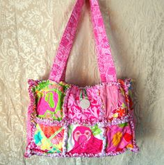 Lilly Pulitzer Beach BagSpa Tote or Large by dmaeredesigns on Etsy