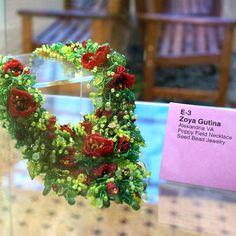 2008 Bead & Button Show - Bead Dreams Exhibition: Poppy Field Necklace