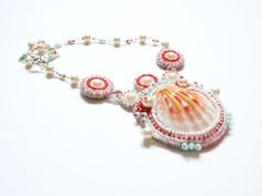 Statement Beadwork Bead Embroidery Pendant by RasaVilJewelry, €54.00