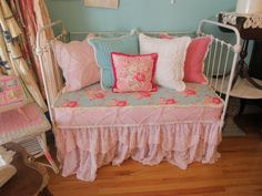 antique chic shabby daybed loveseat by VintageChicFurniture