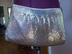 Silver metal mesh vintage purse by PoolsofLaughter on Etsy, $12.00