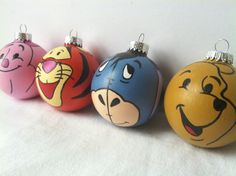 Winnie the Pooh Painted Holiday Ornament Set of four by GingerPots, $50.00 - @Cecilia Johnson