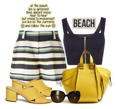 """""""Resort and beach wear"""" by outfitsloveyou ❤ liked on Polyvore featuring WearAll, Jil Sander Navy, Sam Edelman, Loewe, Gucci and HomArt"""