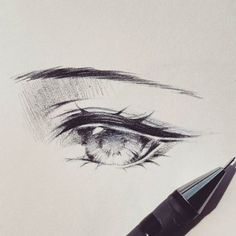 Somehow instagram is being weird and made the video rotated to the other side :( So instead i'll just post the result then. -  #drawing #sketch #doodle #eye #wip #workinprogress #animeeyes #manga #anime #animedrawing #illustration