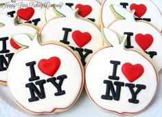The Big Apple I <3 NY Cookies