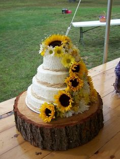 With roses and it's perfect for a country wedding MOST DEFINITELY!! And the sunflowers!!:D