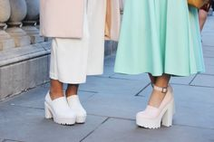 Motel London Fashion Week AW14 Trends: Pastel and Chunky Cleaved Sole Shoes