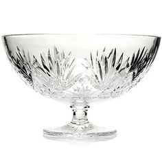 Waterford Crystal Fanlight 8 Footed Bowl