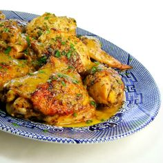 Poulet Saute aux Herbes de Provence - Chicken Sauteed with Herbs and Garlic in an Egg Yolk and Butter Sauce
