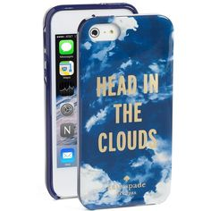 Women's kate spade new york 'head in the clouds' iPhone 5 & 5s case (£27) ❤ liked on Polyvore featuring accessories, tech accessories, phone cases, technology, kate spade, iphone cover case, kate spade iphone case, print iphone case and iphone case
