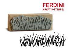 Dieser Wiesen-Stempel passt ideal zu allen Ferdini-Blüten!  *Größe des Stempels:*  5,5 cm x 2 cm (B x H).  *Mit Liebe gezeichnet und handgefertigt.*  Copyright © 2015 Rosita Berge Die...