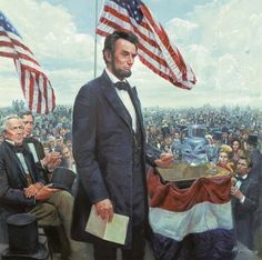 Gettysburg Address by Mort Kunstler