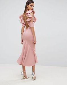 Платье миди ASOS PREMIUM