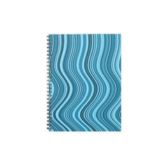 blue curves spiral notebook
