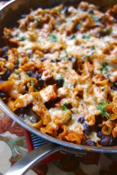 Spicy Chicken Enchilada Skillet | Plain Chicken