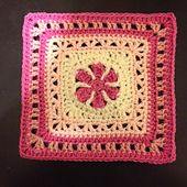 Thoughts of Spring - 6 or 9 inch free crochet square pattern by Kris Kelln