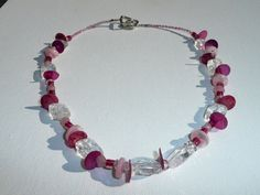 Pink Ice - Cute in pink necklace with a unique design.