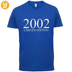 2002 Limierte Auflage / Limited Edition - 15. Geburtstag - Herren T-Shirt - Royalblau - XXL (*Partner-Link)