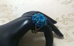 The Maddie Caribbean Blue Opal Capri Blue by NiteDreamerDesigns
