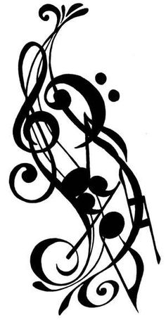 Music Tattoo? Yes!! i feel like i could definitely do something like this with the one i already have... i like it!
