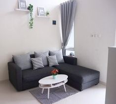 For some occupants of studio lofts and little homes, the inquiry isn't exactly how to make small living room designs Minimalist Sofa, Modern Minimalist Living Room, Living Room Modern, Home Interior, Interior Design Living Room, Living Room Designs, Living Room Decor, Small Living, Living Rooms