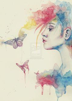 <b>watercolor</b> <b>portrait</b> by 22katerina22 traditional art drawings <b>portraits</b> ...