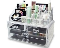 Promising Review: 'I LOVE this product! It comes in two separate pieces but the top fits perfectly on top of the drawers. It's a great size and fits almost all of my makeup. It's great for people who are starting out their makeup collection, but you can really fit a lot of products in the drawers. It fits great on bathroom counters, dressers, or a makeup counter!' –Carol RussoGet it from Amazon for $12.99.