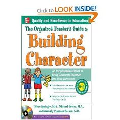 Teach character throughout the year. This book focuses on a different character trait for each month. It has lessons that span the grade levels. Lessons include art, writing, and other hands-on activities that can be added into any curriculum. There is also a CD Rom that is full of resources from graphic organizers to character certificates and bookmarks. It has everything you need!