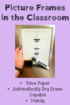 Being a teacher is complicated! There are so many components into making sure that everything runs as planned. Building an array of teaching tips and tricks will help elementary teachers with classroom management. This blog post shares how a picture frame can add to classroom organization while saving the teacher time...and their sanity! {Classroom Management, Classroom Organization, Kindergarten, First, Second, Third, and Fourth Grade, K, 1, 2, 3, and 4}
