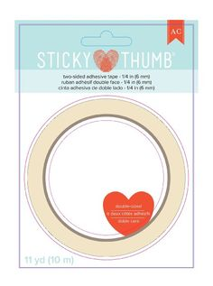 """American Crafts Sticky Thumb Double-Sided Tape, 0.25"""" x 11 yd"""