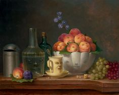 "Marion Peck: ""Still Life with Dralas""    Oil on panel    2005"