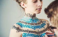 Juxtapoz Magazine - Calligraphy on Girls