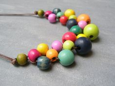 Hey, I found this really awesome Etsy listing at https://www.etsy.com/listing/176277802/sale-25-off-multi-colored-wooden-bead