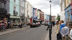 main street in Notting Hill.  Travel Bookstore is famous.  Portobello Rd for antiques on Saturdays.