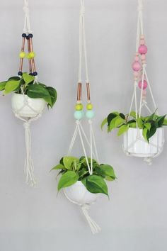 Super easy and simple form room DIYs to kick off the school year—Copper Hanging Planter
