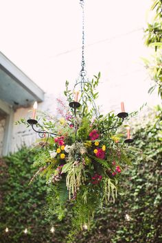 Garden-Inspired Ceremony Chandelier